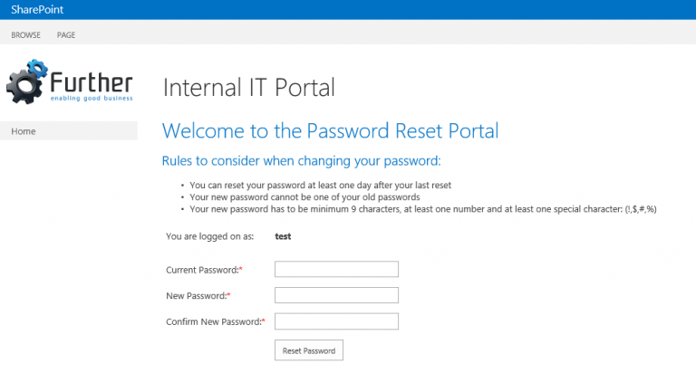 SharePoint Password Reset for External Users